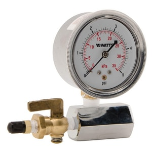 Watts Series IWTG-NYC 2-1/2 in. Air Test Assembly Gauge WIWTGNYC005