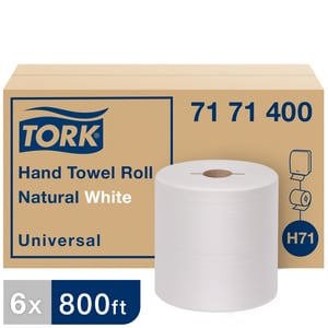 Tork Universal 7-1/2 in. x 800 ft. Universal Hand Towel Roll in Natural White (Case of 6) T7171400