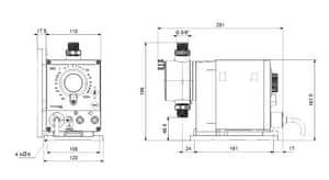 Grundfos DDE Series 36 gpd 150 psi PVC, EPDM and Ceramic Centrifugal Pump G97721060 at Pollardwater