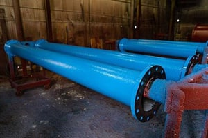 Custom Fab 3 ft. x 10 in. Bituminous Tar Coated Flanged Ductile Iron Pipe FFP10M