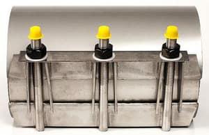 Romac Industries 8 x 12 in. Stainless Steel Repair Clamp 9.00 - 9.40 in. OD RSS109401200