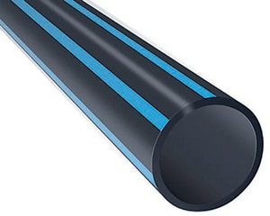 16 x 40 in. DR 17 HDPE Pipe in Blue PED17B1640