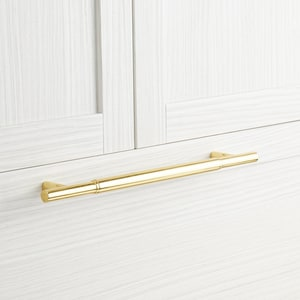 Signature Hardware Colmar 21 in. Cylinder Appliance Pull in Polished Brass SH450259