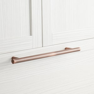 Signature Hardware Avignon 21 in. Cylinder Appliance Pull in Antique Copper SH450271