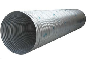 Contech Construction 48 in. x 20 ft. Galvanized Coated Corrugated Steel Corrugated Pipe CP482016GA