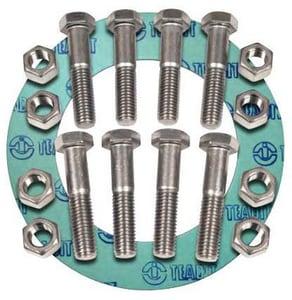 FNW® 12 in. 150# Zinc Non-Asbestos 1/16 Ring Gasket Nut, Bolt, Gasket Set FNWNBGZ1NAR612
