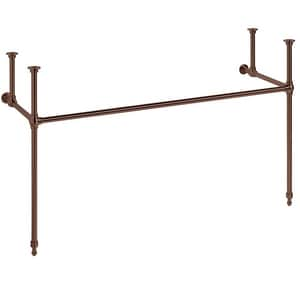 Signature Hardware 60 in. Brass Console Sink Stand in Oil Rubbed Bronze SH256015