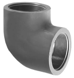 1-1/4 in. FPT x Threaded Straight and Sanitary Schedule 80 PVC 90 Degree Elbow P80T9H at Pollardwater