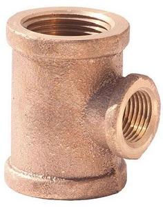 1/2 x 1/2 x 1/4 in. FNPT Brass  Reducing Tee IBRLFTDDB at Pollardwater