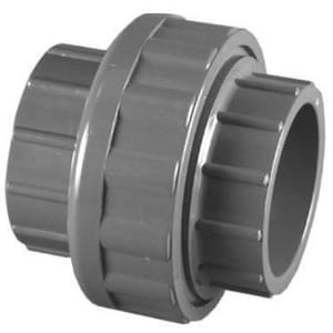 3 in. Socket x Slip Straight Schedule 80 PVC Union with Viton O-Ring Seal P80SUVM