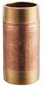 2 x 9 in. MNPT Seamless Brass Nipple GBRNKY at Pollardwater