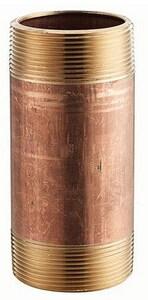 1 x 1 in. MNPT Seamless Brass Nipple GBRNGG at Pollardwater