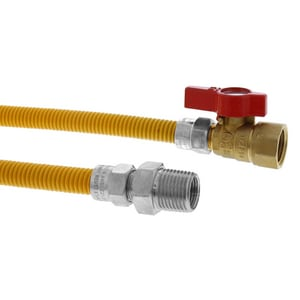 Jones Stephens PlumBest™ LTConnections™ 3/8 x 24 x 1/2 in. MIP x FIP Gas Connector with Ball Valve JG70209