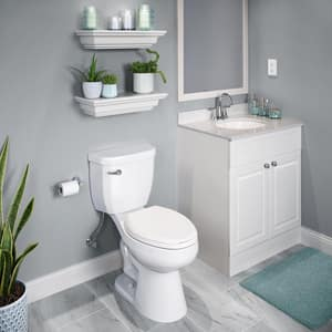 PROFLO® Camas Elongated Closed Front Toilet Seat With Cover in White PFTSHEC2000WH