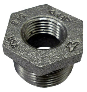 6 x 4 in. NPS 150# Black Cast Iron HEX Reducing Bushing BCIBUP