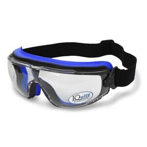 Radians LPX™ IQuity Polycarbonate and Rubber Safety Goggles in Black Frame with Clear Lens RLPG113D