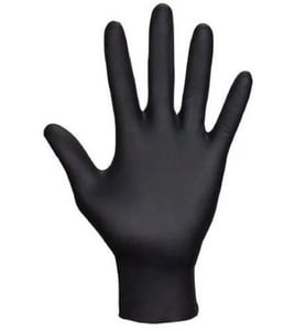 Raven® XL Size 6 mil Powder Free Nitrile Extended Length Disposable Gloves in Black (Pack of 50) S66579