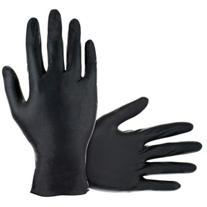 Derma-Tuff® L Size 6 mil Powder Free Nitrile Disposable Gloves in Black (Pack of 120) S66583