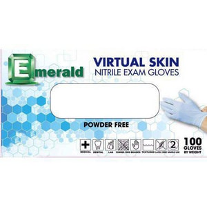 National Consulting Emerald PPP® L Size Powder Free Coated Nitrile Disposable Exam Gloves (Box of 100) NEN503