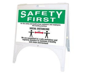 Accuform Signs Fold-ups® Plastic OSHA Safety First Quik Sign APFK900
