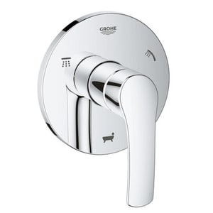 GROHE Eurosmart Single Handle Bathtub & Shower Faucet in StarLight® Polished Chrome (Trim Only) G19972002