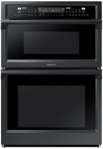 Samsung 29-7/8 in. 40A 5.1 cf Wall Mount Electric Combination Microwave Oven in Fingerprint Resistant Black Stainless SNQ70M6650DGAA