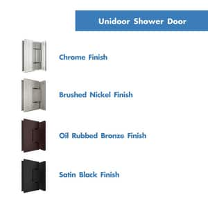 DreamLine Unidoor 29 in. Frameless Hinged Shower Door with Clear Glass in Brushed Nickel DSHDR20297210F04