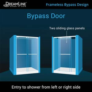 DreamLine Charisma 78-3/4 x 60 in. Frameless Sliding Shower Door with Base Kit in Brushed Nickel with White DDL6943C04CL