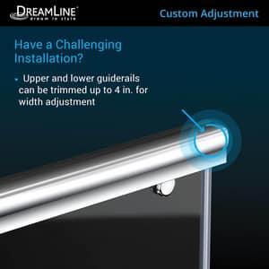 DreamLine Charisma 78-3/4 x 60 in. Frameless Sliding Shower Door with Base Kit in Chrome with White DDL6943C01CL