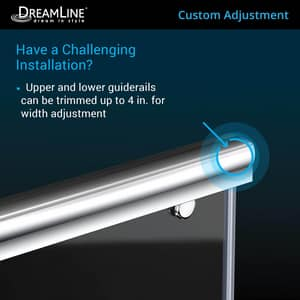 DreamLine Charisma 78-3/4 x 60 in. Frameless Sliding Shower Door with Base Kit in Brushed Nickel with Biscuit DDL6943R2204