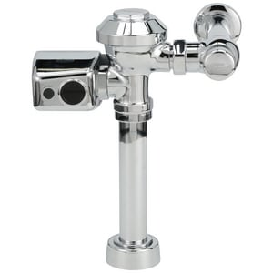 Zurn Battery Powered Motor Operated Flush Valve in Chrome-Plated ZZER6000WS10003