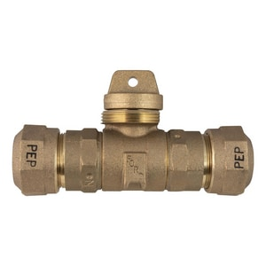 Ford Meter Box 3/4 in. Quick Joint Brass Ball Valve with Tee Handle FB66333MQNL