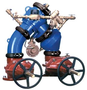 Zurn Wilkins Model 475DA 6 in. Epoxy Coated Ductile Iron Flanged 175 psi Backflow Preventer W475DALFU