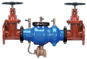 Zurn Wilkins 375A 2-1/2 in. Epoxy Coated Ductile Iron Grooved 175 psi Backflow Preventer W375ABGL