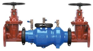 Zurn Wilkins Model 350A 4 in. Epoxy Coated Ductile Iron Flanged 175 psi Backflow Preventer W350AP at Pollardwater