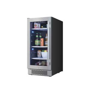Avallon 15 in. Built-In Beverage Cooler with Left Hand Door in Stainless Steel AABR151SGLH