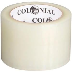 Colonial 72mm x 100m 1.8 mil Hot Melt Synthetic Rubber Carton Sealing Tape S104622