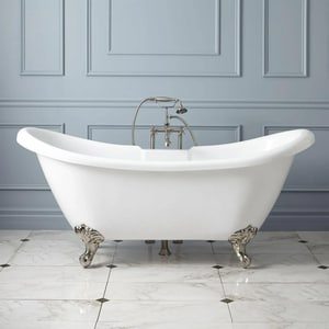 Signature Hardware Rosalind 69 x 29 in. Freestanding Bathtub Offset Drain in White SH285464