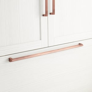 Signature Hardware Rindahl 24-3/8 in. V-shaped Appliance Pull in Antique Copper SH450274