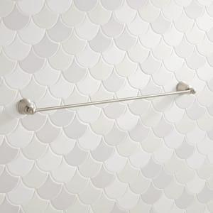 Signature Hardware Cooper 24 in. Towel Bar in Brushed Nickel SH433256