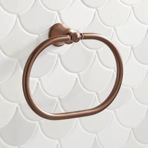Signature Hardware Cooper Round Closed Towel Ring in Oil Rubbed Bronze SH433261