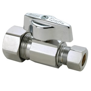Brass Craft KTCR14 Series 5/8 in x 3/8 in Straight Handle Straight Supply Stop Valve in Chrome Plated BKTCR14XC