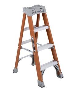 Louisville Ladder 19-1/2 in. x 4 ft. 300 lbs. Fiberglass Step Ladder LFS1504 at Pollardwater