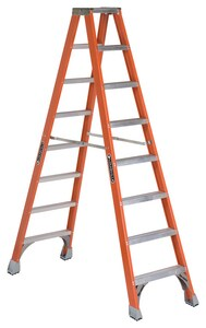 Louisville Ladder 8 ft. x 25-9/16 in. 300 lbs. Fiberglass Double Step Ladder LFM1508 at Pollardwater