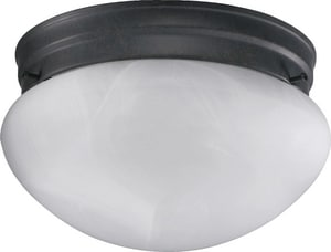 Quorum International 60 W 1-Light Medium Flush Mount Ceiling with Faux Alabaster Glass in Toasted Sienna Q3021644