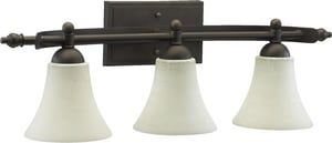 Quorum International Aspen 9-1/4 x 27-1/4 in. 100W 3-Light Vanity Light in Oiled Bronze Q5077386