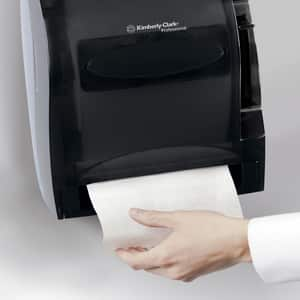 Kimberly Clark Lev-R-Matic® Automatic Lever Hard Roll Towel Dispenser in Smoke Grey K09765 at Pollardwater