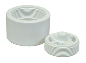 PROFLO® 4 in. Push On Plastic White Cleanout PF42936