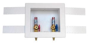 Oatey Quadtro® 9-43/100 in x 9-61/100 in x 3-73/100 in Washing Machine F1807 PEX Supply Box O38542