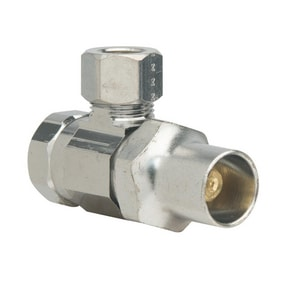 Brass Craft SR15 Series 3/8 in Loose Key Handle Angle Supply Stop Valve in Chrome Plated BSR15XC